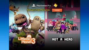 PlayStation Plus February 2017 Includes Little Big Planet 3, Not a Hero, More