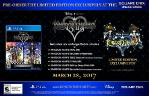 Limited Edition for Kingdom Hearts HD 1.5 + 2.5 Remix Comes With Exclusive Pin