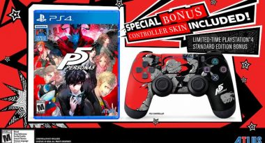 Regular Copies of Persona 5 Include a DualShock 4 Controller Skin