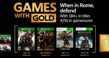 Games With Gold April 2017 Includes Ryse: Son of Rome, Darksiders, More