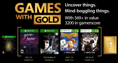 Games With Gold October 2017 Includes Gone Home, The Turing Test, More