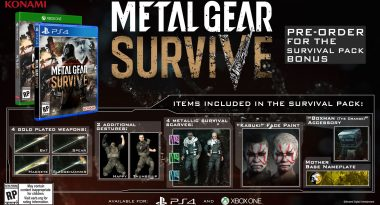Metal Gear Survive Release Dates Set for February 2018