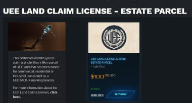 You Can Buy Virtual Land in Star Citizen Now But Can't Utilize It