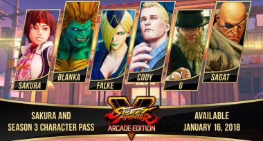 Street Fighter V Season 3 Adds Sakura, Blanka, Falke, Cody, G, and Sagat