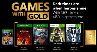 Games With Gold for January 2018 Includes Tomb Raider Underworld, Army of Two, More