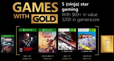 February 2018 Games With Gold Includes Shadow Warrior, Crazy Taxi, More