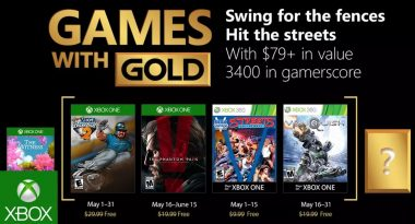Games With Gold for May 2018 Announced