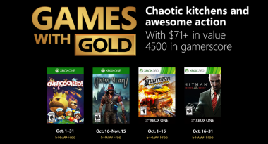 Xbox Live Games With Gold Announced for October 2018