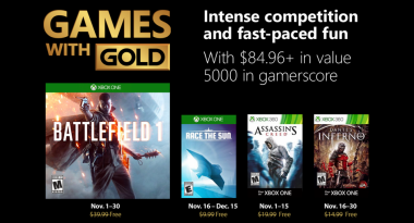 Games With Gold for November 2018 Announced