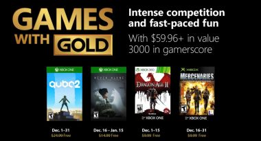 Xbox Live Games With Gold Lineup Announced for December 2018