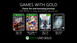 February 2019 Games With Gold Announced