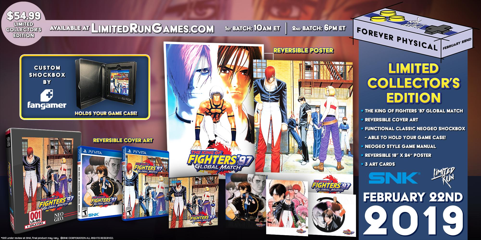 Limited Physical Versions Announced For The King Of Fighters 97