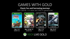 March 2019 Games With Gold Lineup Announced