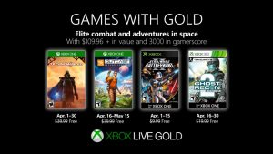 Games With Gold for April 2019 Announced