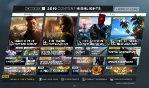 Hitman 2 Content Roadmap Detailed