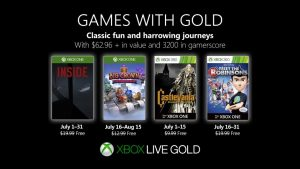 Games With Gold for July 2019 Announced