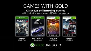 Games With Gold Lineup Announced for August 2019