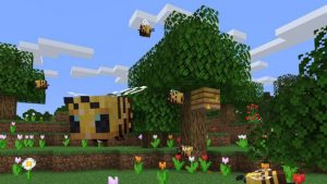 New Minecraft Update Adds Bees and Honey Farming