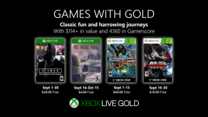 Games With Gold Lineup Announced for September 2019