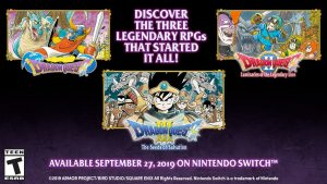 Dragon Quest I, Dragon Quest II, and Dragon Quest III for Switch Head West on September 27