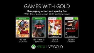 Xbox Live Games With Gold for October 2019 Announced