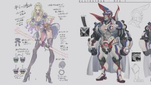 No More Heroes III Concept Art for Kimmy Howell and Destroyman
