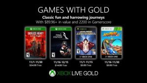 Games With Gold for November 2019 Announced