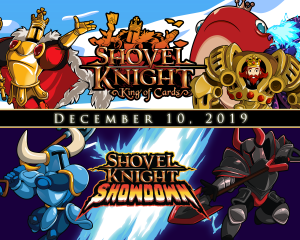 Shovel Knight: King of Cards, Showdown, and Treasure Trove Physical Versions Launch December 10