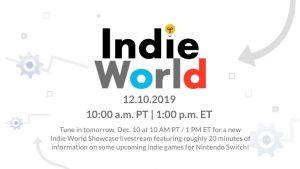 Nintendo Indie World Showcase Confirmed for December 10