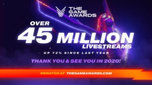 The Game Awards 2019 Achieved Record 45.2 Million Views, Estimated 72% Increase on Prior Year
