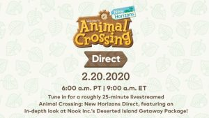 Animal Crossing: New Horizons Nintendo Direct Scheduled for February 20