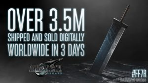Final Fantasy VII Remake Sells 3.5 Million Copies Worldwide, Three Days After Launch