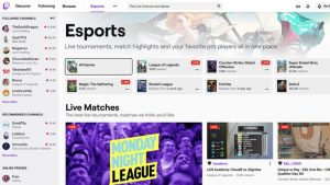 Twitch Adds Esports Directory to Streaming Service
