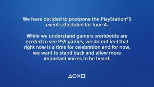 PlayStation Future of Gaming Showcase Postponed due to George Floyd Death and Aftermath
