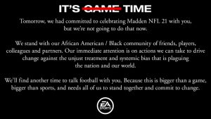 Madden NFL 21 Reveal Trailer & Details Postponed due to George Floyd Death and Aftermath