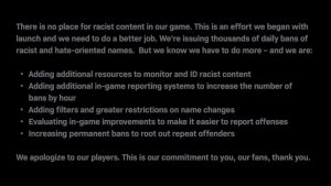 Infinity Ward to Increase Filters, Restrictions, and Bans against Racist and Hateful Usernames