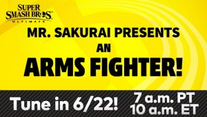 Super Smash Bros. Ultimate ARMS DLC Fighter Livestream Premieres June 22nd