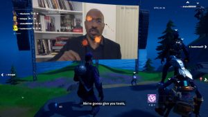 Fortnite Presented We The People Racial Discrimination Presentation; Screen Pelted with Tomatoes