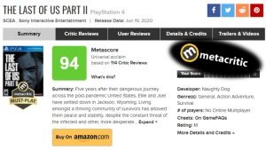 Metacritic Implement 36 Hour Delay in User Reviews on Game's Launch, After Low The Last Of Us Part II User Scores