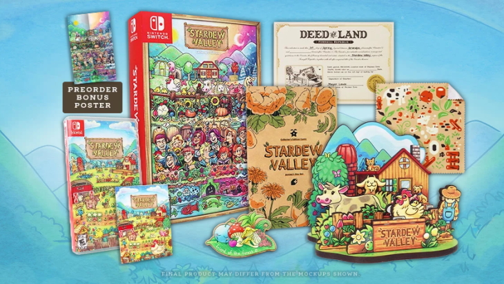 Stardew Valley Pc And Switch Physical Versions And Collector S Edition Available For Pre Order Now Ships November 9 Niche Gamer