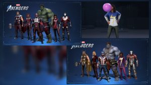 Marvel's Avengers Exclusive Costumes and Content; PlayStation 4, Verizon, Intel, and 5 Gum