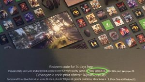 Xbox Series S Mentioned on Xbox Game Pass Ultimate Trial Code Card