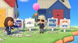 Joe Biden & Kamala Harris Campaign Distribute Yard Signs in Animal Crossing: New Horizons