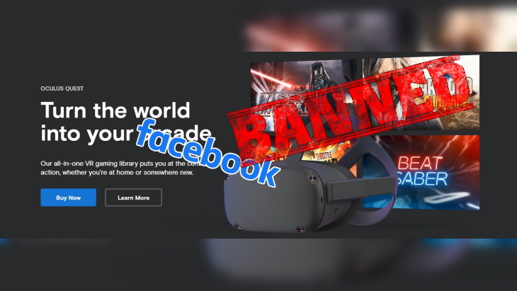 Oculus Facebook Banned