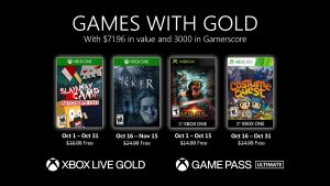 Games With Gold Freebies for October 2020 Announced