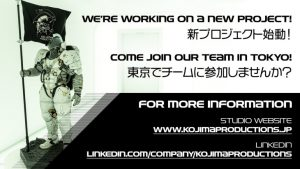 Kojima Productions Hiring for New Project