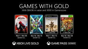Games With Gold Lineup for November 2020 Announced