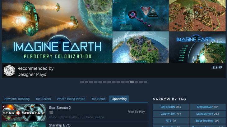 Steam Store Browse experiment