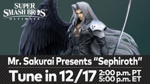 Super Smash Bros. Ultimate Sephiroth Presentation Premieres December 17