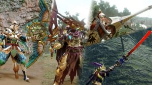 Monster Hunter Rise Bow, Dual Blades, Long Sword, and Lance Gameplay Trailers